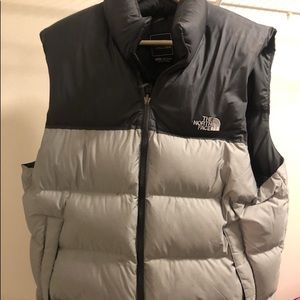 Grey & Black North Face Vest